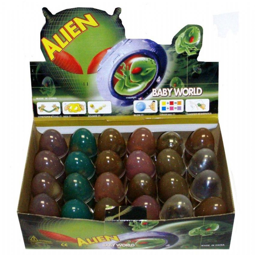 Hatching ALIEN Gel Bouncing Putty EGG - Bouncy & Stretchy Mixed Colours